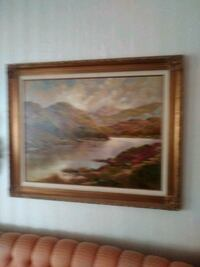 painting of brown house with brown wooden frame 2269 mi