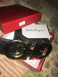 black reversible ferragamo belt