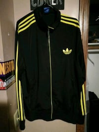 black and yellow Adidas zip-up jacket Walker, 56484