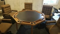 Poker Table and 5 Chairs