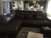 black leather sectional sofa with ottoman El Paso, 79925