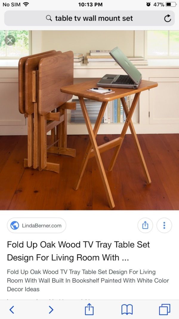 brown wooden table with chairs screenshot