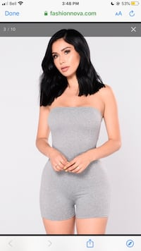 Grey Fashion Nova Romper Oakville, L6H 6L6