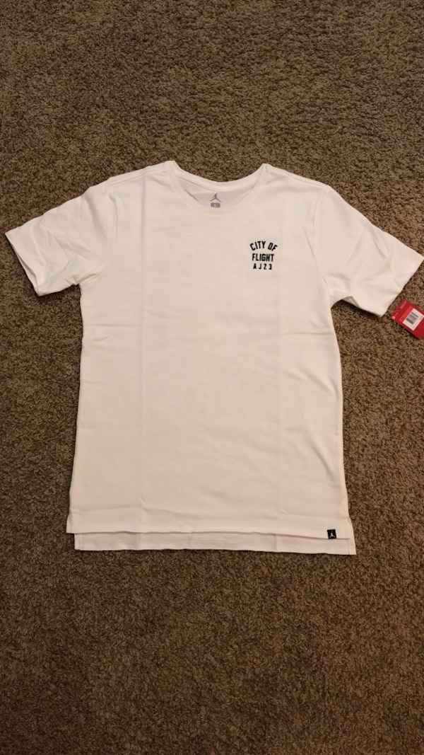 "b27e2a8fd835 Used Nike Air Jordan ""City Of Flight"" t-shirt ~ White for sale in Quincy -  letgo"