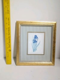 white and yellow flower painting with brown wooden frame Tulsa, 74146