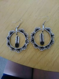 Beaded Feather Earrings Edmonton, T5B 3P5
