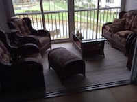 brown leather sofa chair with ottoman Fort Myers, 33916