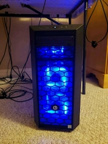 Custom Gaming Computer + LED Keyboard and Mouse