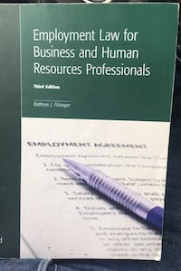 Paralegal Book Employment Law Third Edition  Toronto