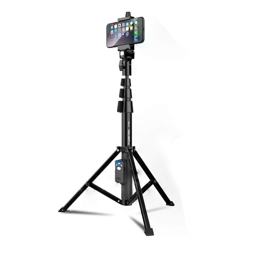Selfie Stick And Tripod Fugetek - Portable All-In-One Bluetooth