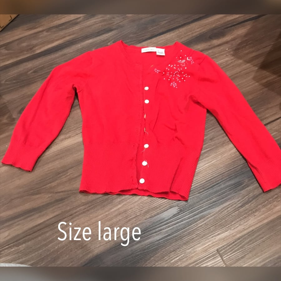 Cute red cardigan. Size large