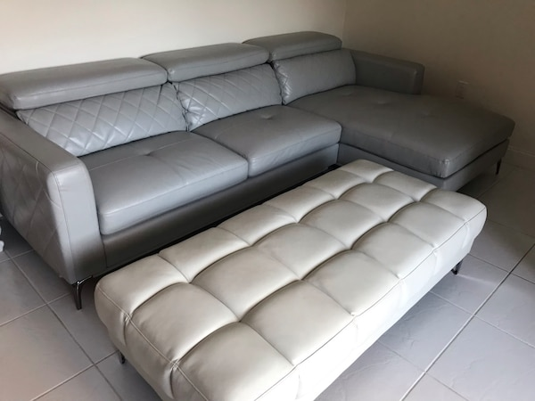 Awesome Used Leather Sofa Ottoman For Sale In Jupiter Letgo Alphanode Cool Chair Designs And Ideas Alphanodeonline