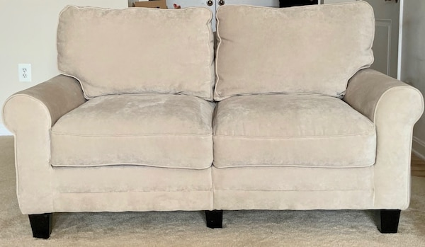 Matching Serta Sofa and Loveseat in Marzipan 1