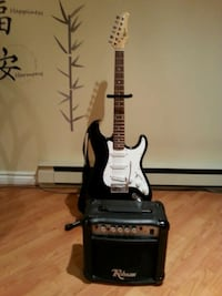 Beginners Guitar , amplifier, stand and case Laval, H7M
