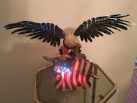 American bald eagle on flag.  Lights up.  Beautiful. Bellbrook, 45305