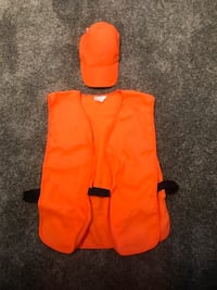 Orange hunting vest and hat. Brand new!
