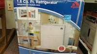 1.6 cu. ft. white compact refrigerator box\ 1152 mi