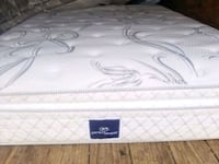 Queen mattress pillowtop pocket coil. Comfy delivery 30 Edmonton, T5A 4H3