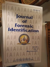 Journal of Forensic Identification (2008-2015) Mississauga, L5G 1C3