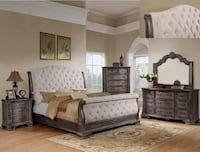 Sheffield Antique Gray Sleigh Bedroom Set | B1120-88 Houston, 77036