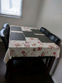 Dinning bar table set with extension and 7  chairs Edmonton, T6L 5X8