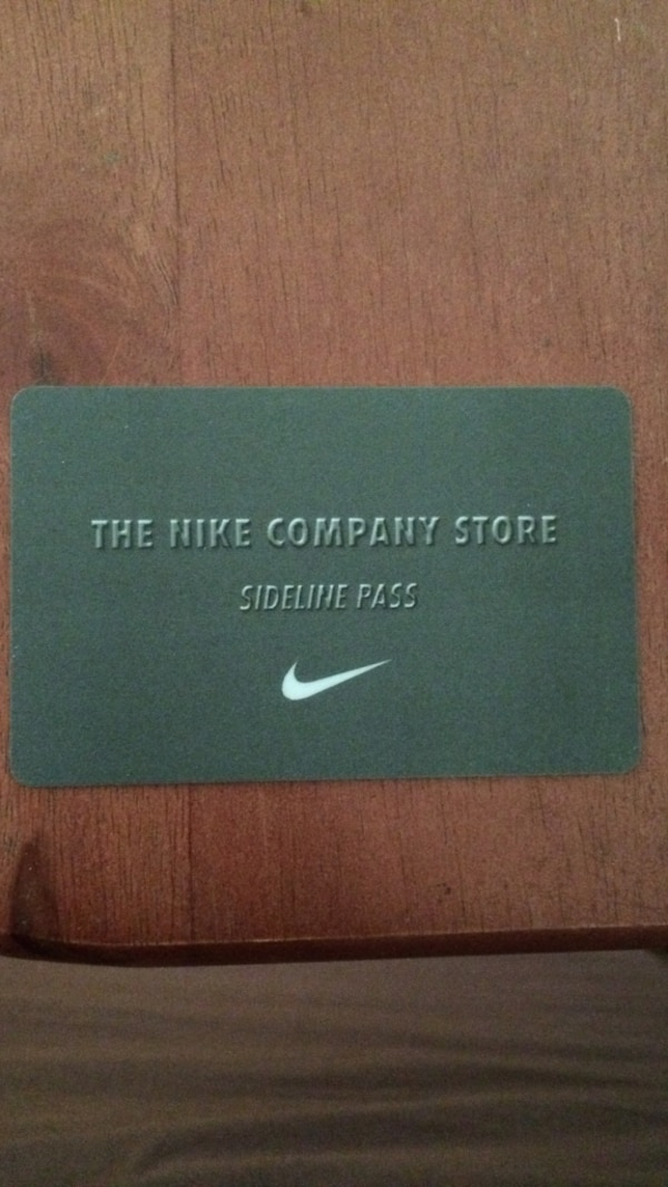 aa7526114 Used The nike company store sideline pass card for sale in Portland ...