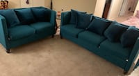 Teal Couch and Two Loveseats Beltsville, 20705