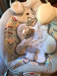 Baby Fisher Price Snuggapuppy bouncy seat arm with toys hangs low otherwise perfect condition  Springfield, 22153