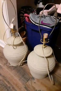 2 LARGE Lamps.....  WITH STANDARD CREAM COLORED PL Savannah