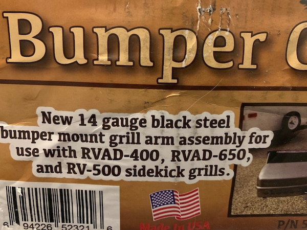 Outdoors unlimited Bumper Grill Arm Assembly - 14 Gauge Steel 2