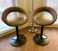 Two Leather Swivel Bar Stools Washington, 20037