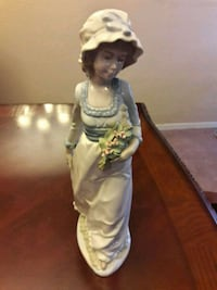 Nadal porcelain girl with rose bouquet figurine Sacramento County, 95655