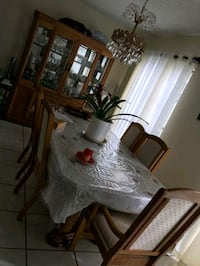 Table & China Cabinet & Chairs