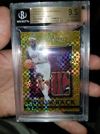LeBron select throwback gold prizms 1/10 bgs 9.5