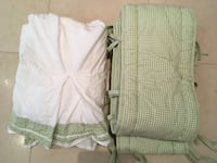 Pottery Barn - Green Gingham Crib Bumper & Bedskirt Oakville, ON, Canada