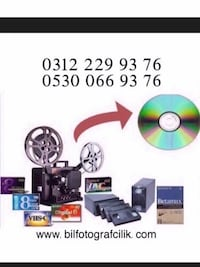 video kasetten dvd , flash bellege harddisk'e KAYIT AKTARIM YAPILIR. Çankaya, 06420