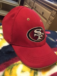 red and black San Francisco 49ers fitted cap 2292 mi