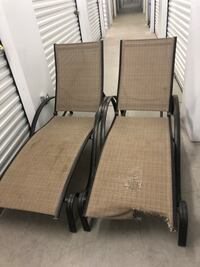 Grey lawn chairs. Good cond. small tare on one. Lancaster, 93535