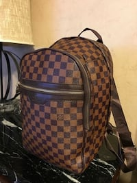 Brown checkered oversized backpack & sandals (men's size 9) Edmond, 73034