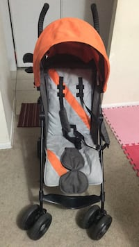 baby's gray and orange stroller Mississauga, L5N 2W2