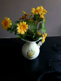Ceramic jug with flowers  Vancouver