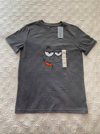 Cat & Jack Short Sleeve Charcoal Smirk Face Boys Size 12/14 Brand New Arlington, 22206