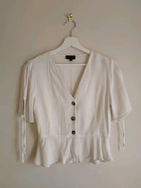 TOPSHOP white button-up long sleeve shirt Greater London, SE19 3NL