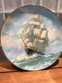 """Clipper Ship Plate W.L. George """"The Golden Eagle Conquers the Wind""""  Towson, 21286"""