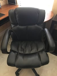 black leather office rolling armchair Orlando, 32824