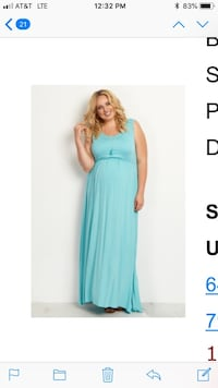 Aqua maternity dress. Sz 2x worn once for pictures Turlock, 95382