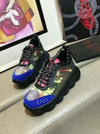 VERSACE CHAIN REACTION SNEAKERS Silver Spring
