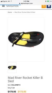 Mad River Killer B Pro Snow Sled Sleigh indestructible Fredericksburg, 22401