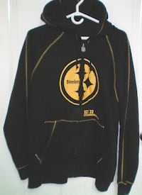 Pittsburgh Steelers Distressed Look Hoodie Size XL