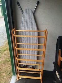 DVD/CD holder and ironing board. Clemmons, 27012